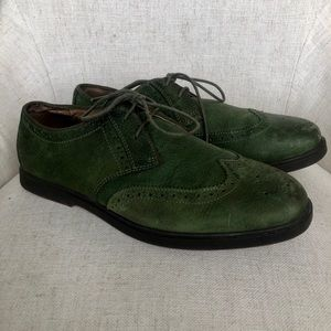 Polo wing tip suede shoes